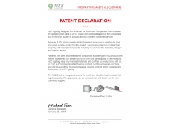 Explosion Proof Lighting Patent Declaration