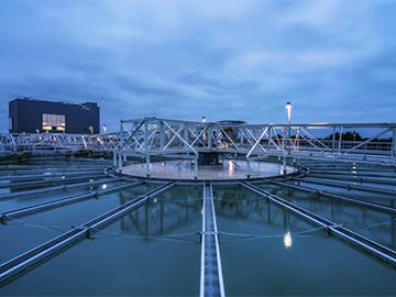 Iluminación en las plantas de de tratamiento de aguas