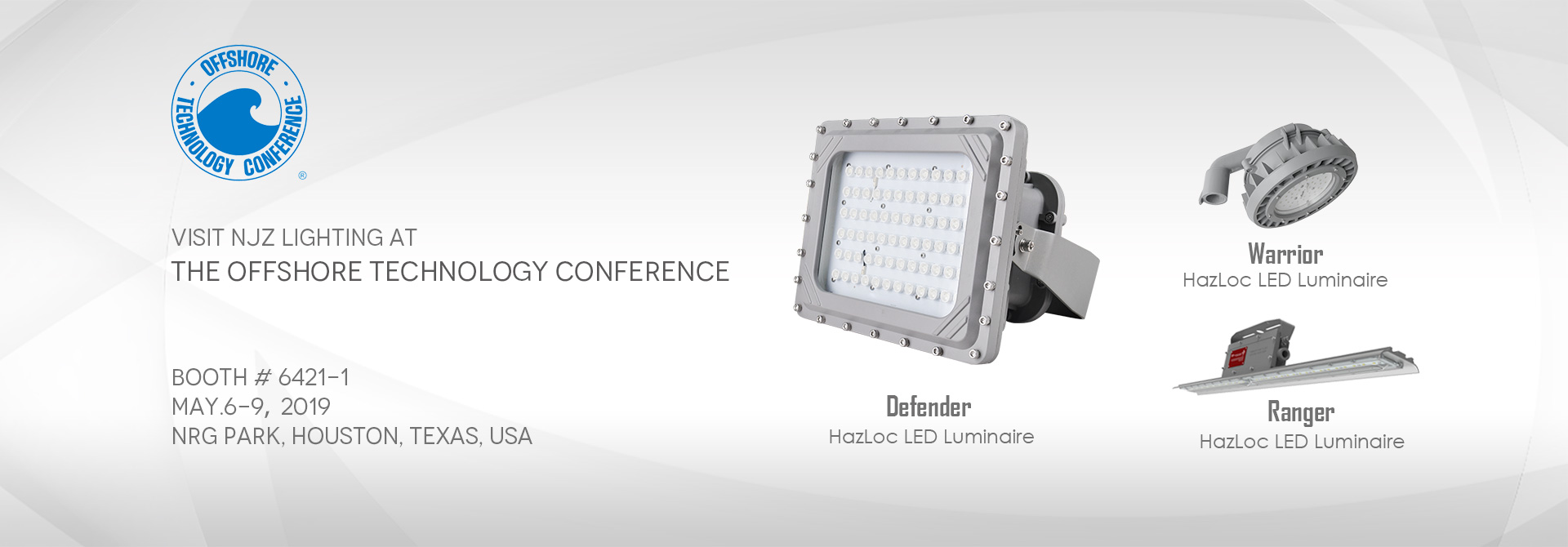 Visit NJZ Lighting at the Offshore Technology Conference 2019